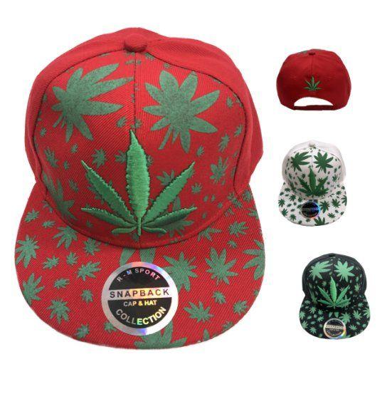 7ae432b457f68 36 Units of Snap Back Flat Bill Embroidered Printed Marijuana Hat - Baseball  Caps   Snap Backs - at - alltimetrading.com