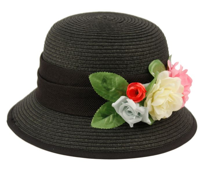 12 Units of PAPER STRAW BRAID BUCKET HATS WITH FLOWER - Bucket Hats - at - alltimetrading.com