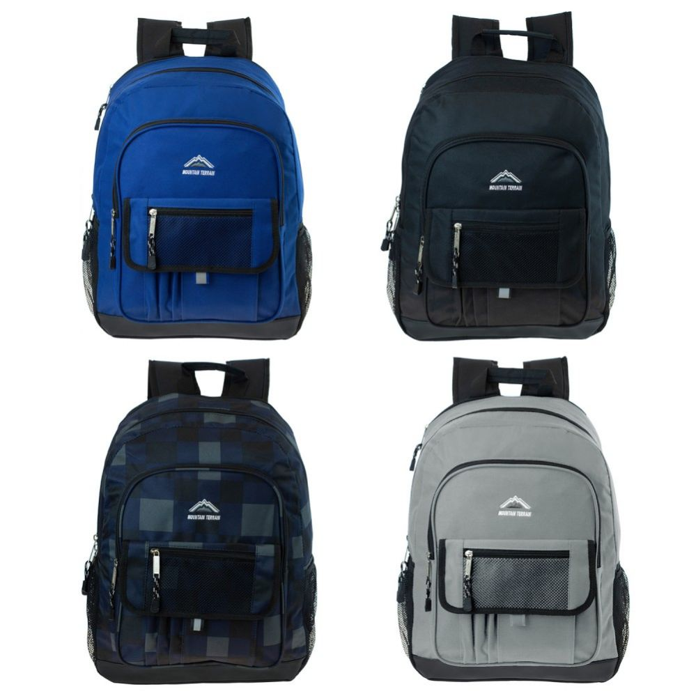 24 Units of 17 Inch Premium Backpack in 4 Assorted Colors - Backpacks 17