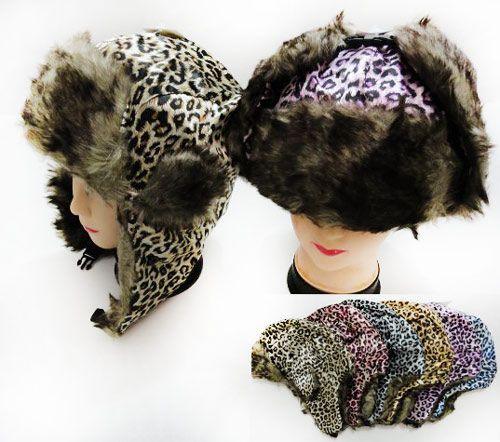 36 Units of Unisex Faux Fur Lined Bomber Leopard Print Winter Hat - Fashion Winter  Hats - at - alltimetrading.com dc917578f6d