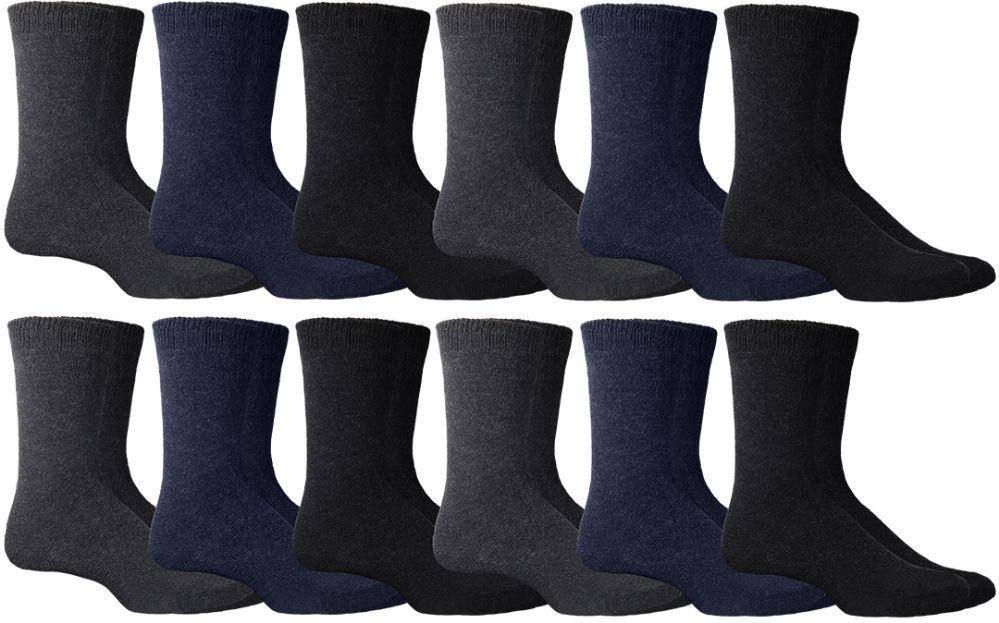 17c58aa92 36 Units of Mens Super Warm Assorted Dark Colors Winter Thermal Socks -  Mens Thermal Sock - at - alltimetrading.com