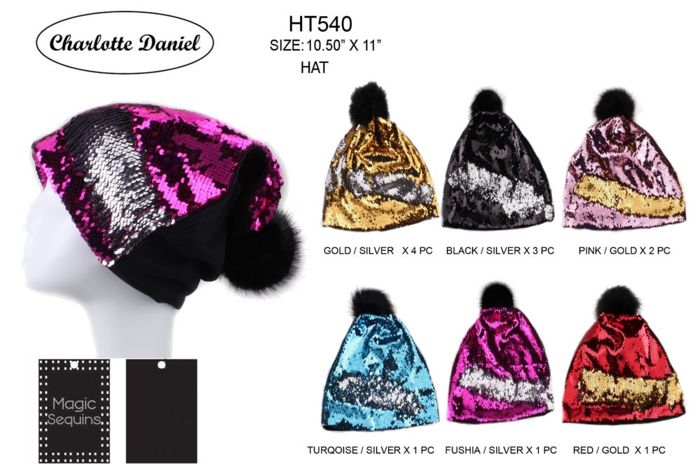 4436c7b25ac 36 Units of Slouch Pom Pom Winter Beanie With Silhouette Design - Fashion Winter  Hats - at - alltimetrading.com