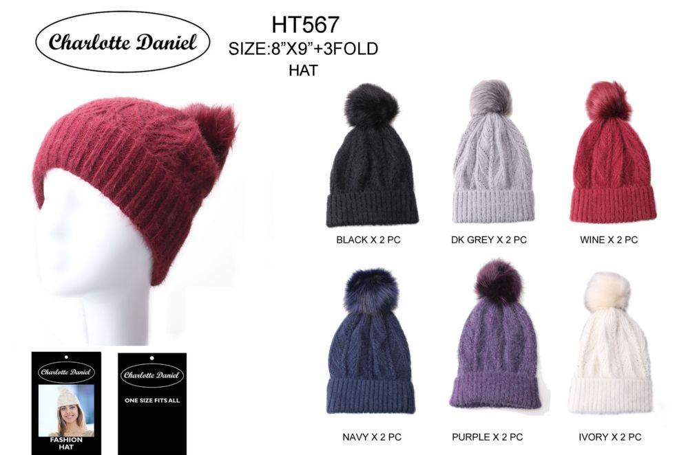 98f25e8df8f 36 Units of Slouch Pom Pom Winter Beanie - Fashion Winter Hats - at -  alltimetrading.com