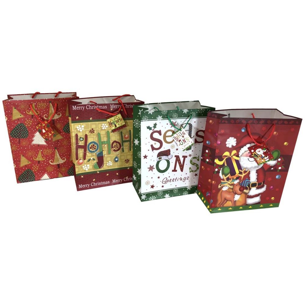 48 units of party solutions xmas gift bag x large christmas gift bags and boxes