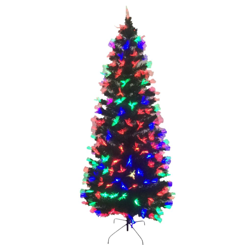 party solutions christmas tree 6 ft fiber optic 220 pre lit tips 225 led lights decoration christmas decorations