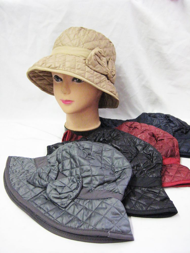 55b03a9cdd7 36 Units of LADIES WINTER BUCKET HAT WITH BOW - Bucket Hats - at -  alltimetrading.com