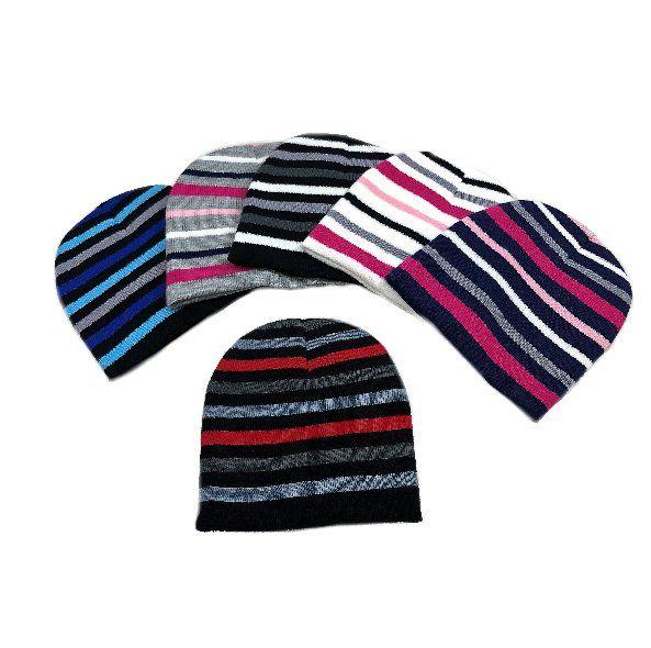 48 Units of Child s Knit Beanie Stripes Hat - Junior   Kids Winter Hats -  at - alltimetrading.com 69ac766f410