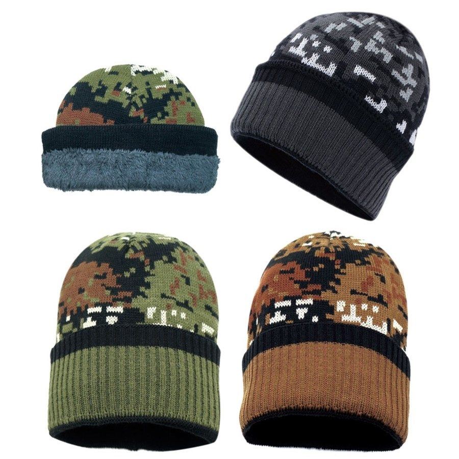 4e3be9a4937c9 36 Units of Winter Knit Hat With Fleece Lining In Camo - Winter Beanie Hats  - at - alltimetrading.com