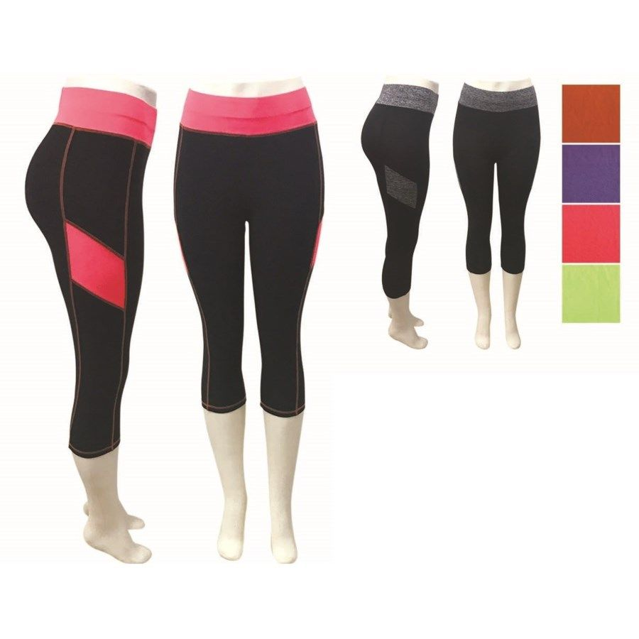 8d72daead6606 24 Units of Lady's Fitness Leggings In Assorted Color - Womens Leggings - at  - alltimetrading.com