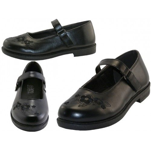 24 Units of Big Girl's Mary Janes Black