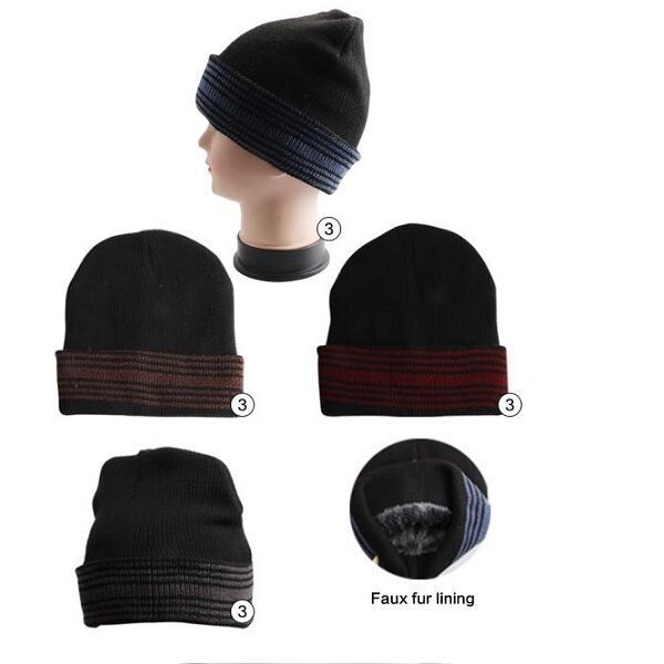 b58eaa4e5cf54 36 Units of Winter Beanie Hat With Faux Fur Lining Mix Colors Unisex - Winter  Beanie Hats - at - alltimetrading.com