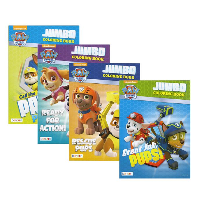 72 Units Of Paw Patrol Jumbo Coloring Book Coloring Activity Books