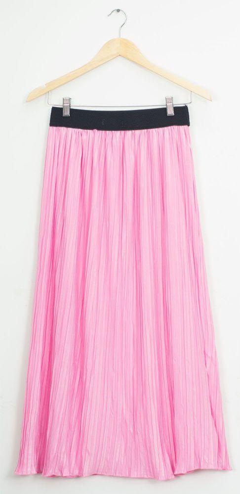 45364e40d16982 12 Units of Elastic Band Pleated Maxi Skirt Pink - Womens Skirts - at -  alltimetrading.com