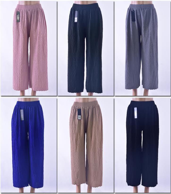 b401f4e5a6c98 72 Units of Women's Solid Color Palazzo Pants - Womens Capri Pants - at -  alltimetrading.com