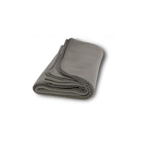 36 units of promo fleece blanket throws gray fleece sherpa