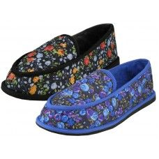 24 Units of Women's Floral Printed Bedroom Shoe - Womens Slippers