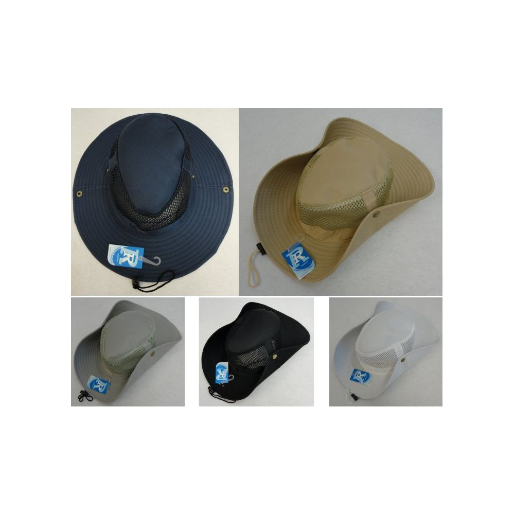 24 Units of Mesh Boonie Hat-Solid Color - Cowboy   Boonie Hat - at -  alltimetrading.com e992acb677f