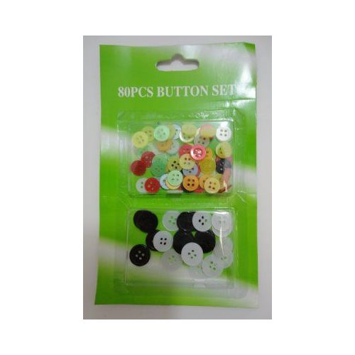 144 Units of 80pc Button Set - SEWING BUTTONS