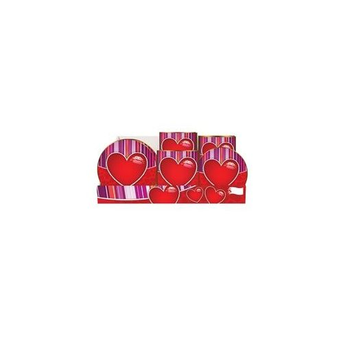 Heart Pre-Packed Counter Shipper, 96 Ct. - Party Tableware