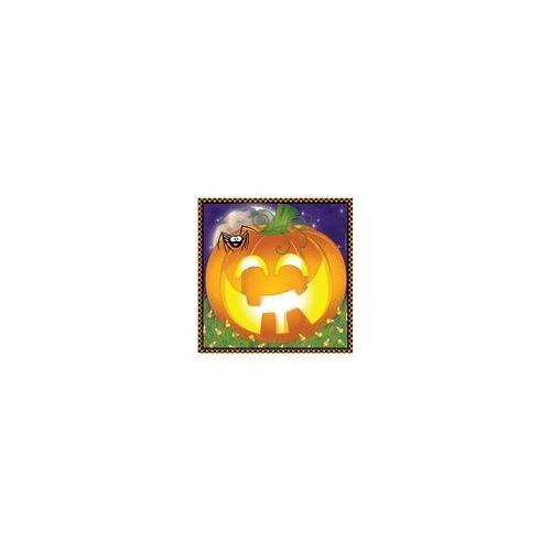 144 Units of  Pumpkin Grins Luncheon Napkins -16CT - Halloween & Thanksgiving