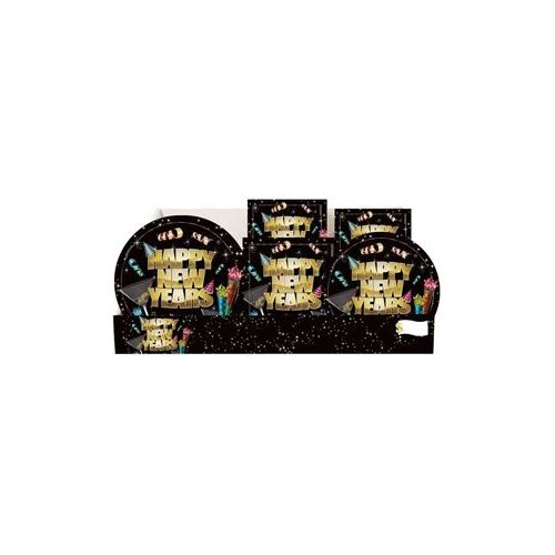 New Years Pre-Packed Counter Shipper, 96 Ct. - Party Tableware