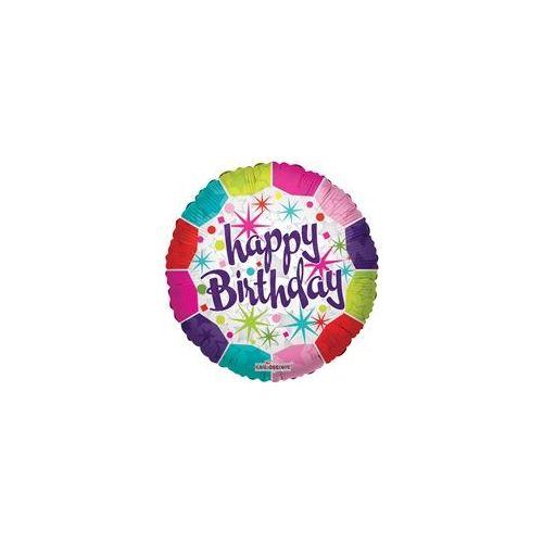 """100 Units of Mylar 18"""" DS - Happy Birthday Fresh - Balloons/Balloon Holder"""