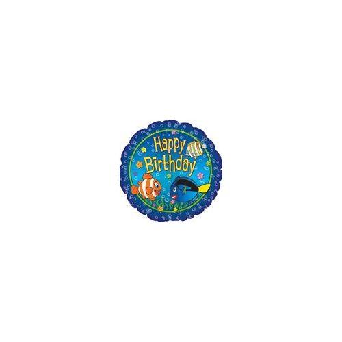 """100 Units of  Mylar 18"""" DS-Happy Birthday Big Fish"""