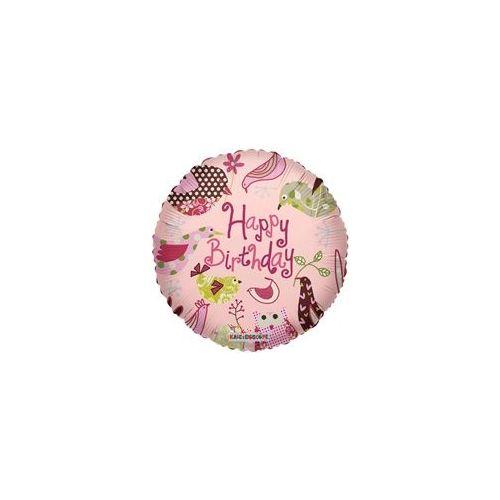 """100 Units of Mylar 18"""" DS - Happy Birthday Birds"""