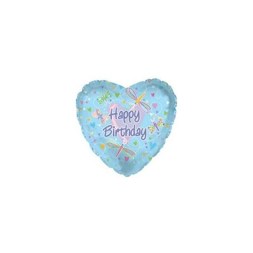 "100 Units of Mylar 18"" DS - Happy Birthday Dragonflies - Balloons/Balloon Holder"