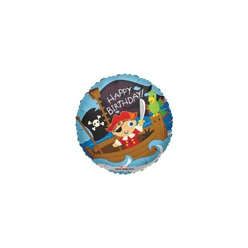 "100 Units of Mylar 18"" DS - Birthday Pirate Boy - Balloons/Balloon Holder"