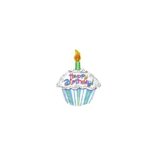 "100 Units of Mylar 18"" DS - Happy Birthday Petite Cupcake - Balloons/Balloon Holder"
