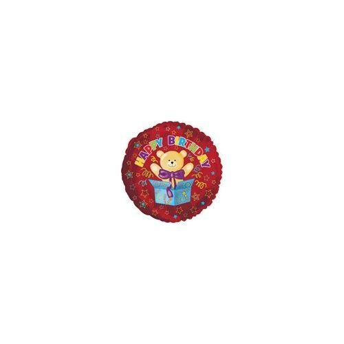 "100 Units of Mylar 18"" DS - Happy Birthday Surprise Bear"