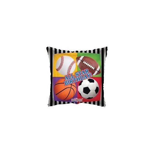"100 Units of Mylar 18"" DS - All Star Birthday - Balloons/Balloon Holder"