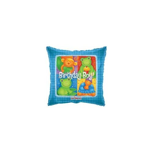 "100 Units of Mylar 18"" DS - Birthday Boy Animals - Balloons/Balloon Holder"
