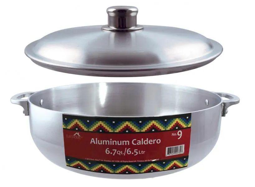 10 Units of Polished Aluminum Caldero Pots 6.7qt