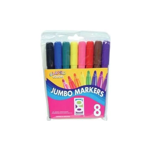 48 Units of 8 Ct. Jumbo Markers - Markers and Highlighters