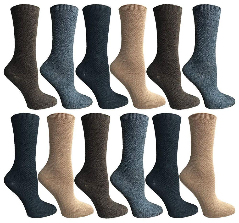 a1168dacdb12 12 Units of SOCKSNBULK Womens Dress Crew Socks, Bulk Pack Assorted Chic  Socks Size 9-11 - Womens Dress Socks - at - alltimetrading.com