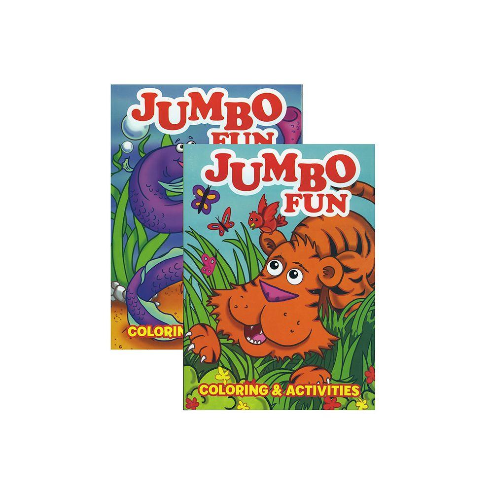 48 Units of JUMBO Fun Coloring & Activity Book at alltimetrading.com