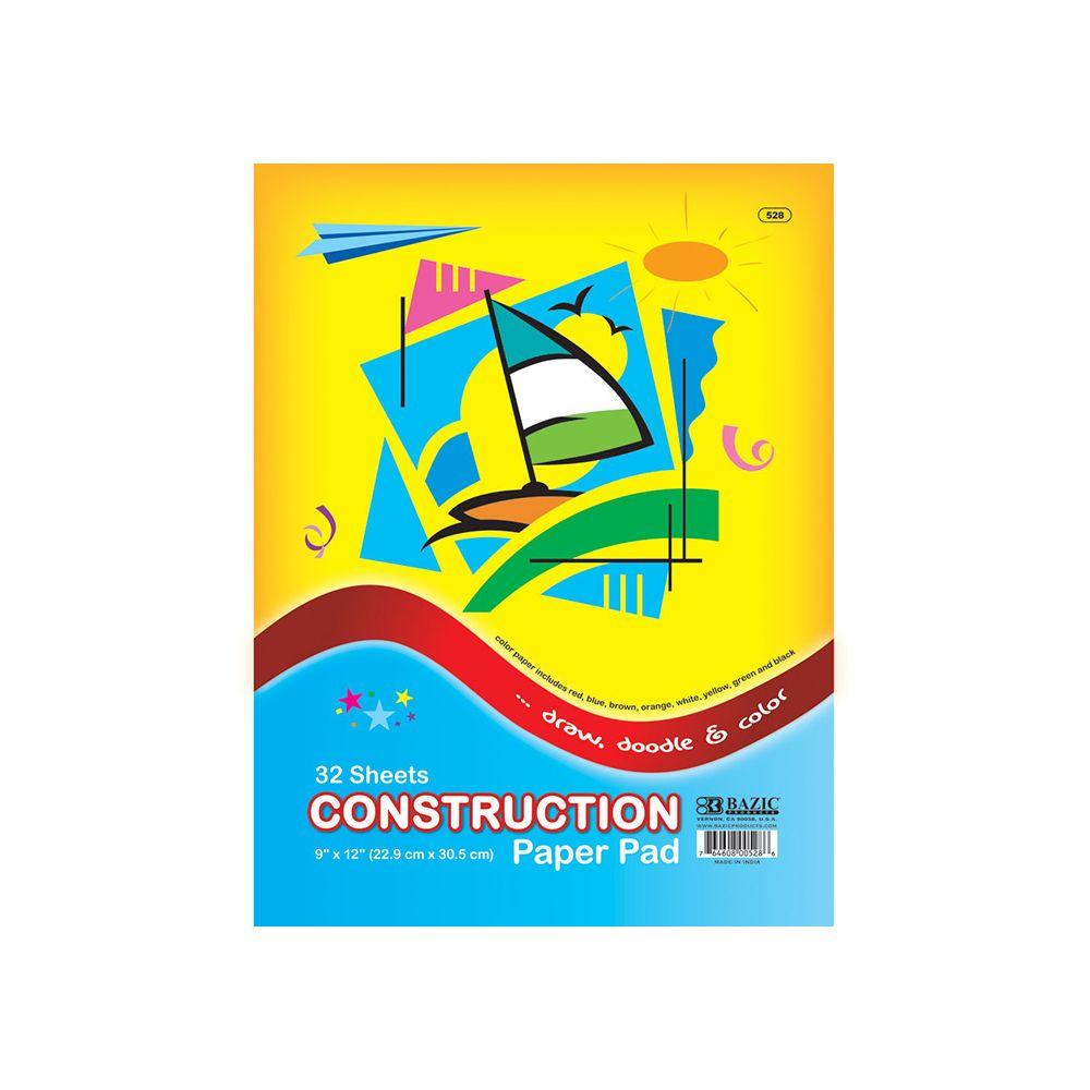 "48 Units of 32 Ct. 9"" X 12"" Construction Paper Pad - PAPER"