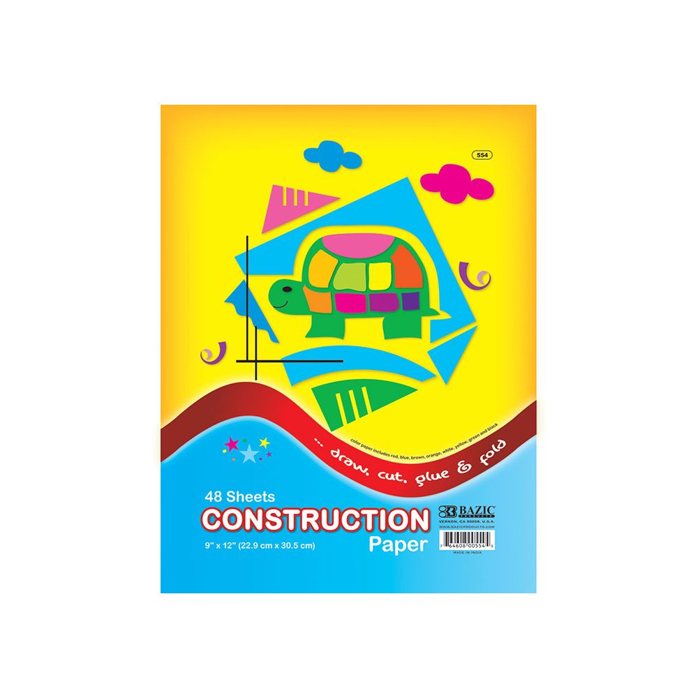 "48 Units of 48 Ct. 9"" X 12"" Construction Paper - PAPER"