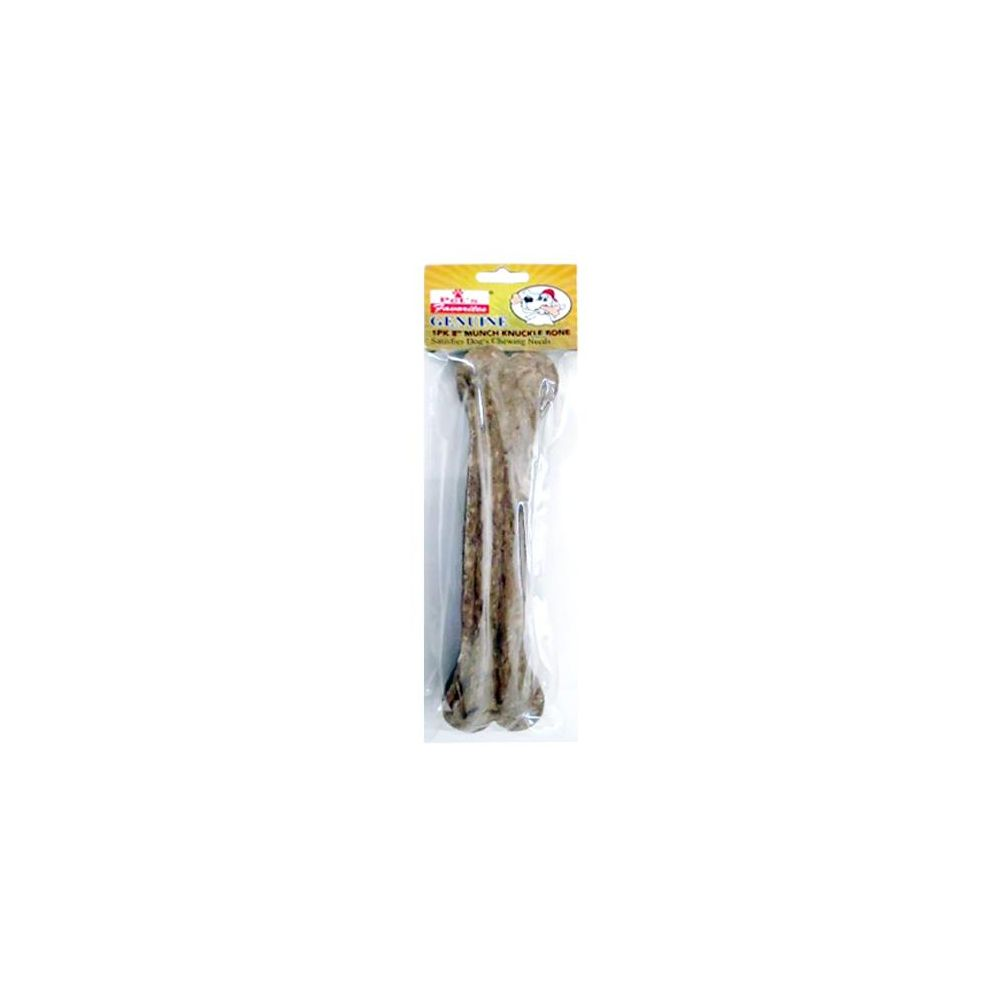 48 Units of 8 INCH MUNCH KNUCLE BONE NATURAL 160-170 GRAMS PER PACK - Pet Chew Sticks and Rawhide