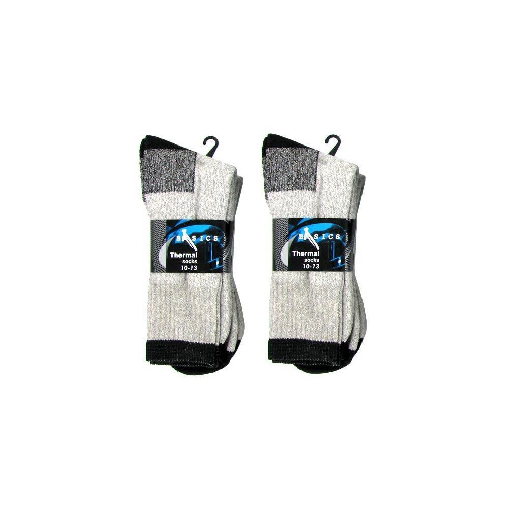60 Units of 2 PACK THERMALSOCKS 10-13 GRAY AND BLACK