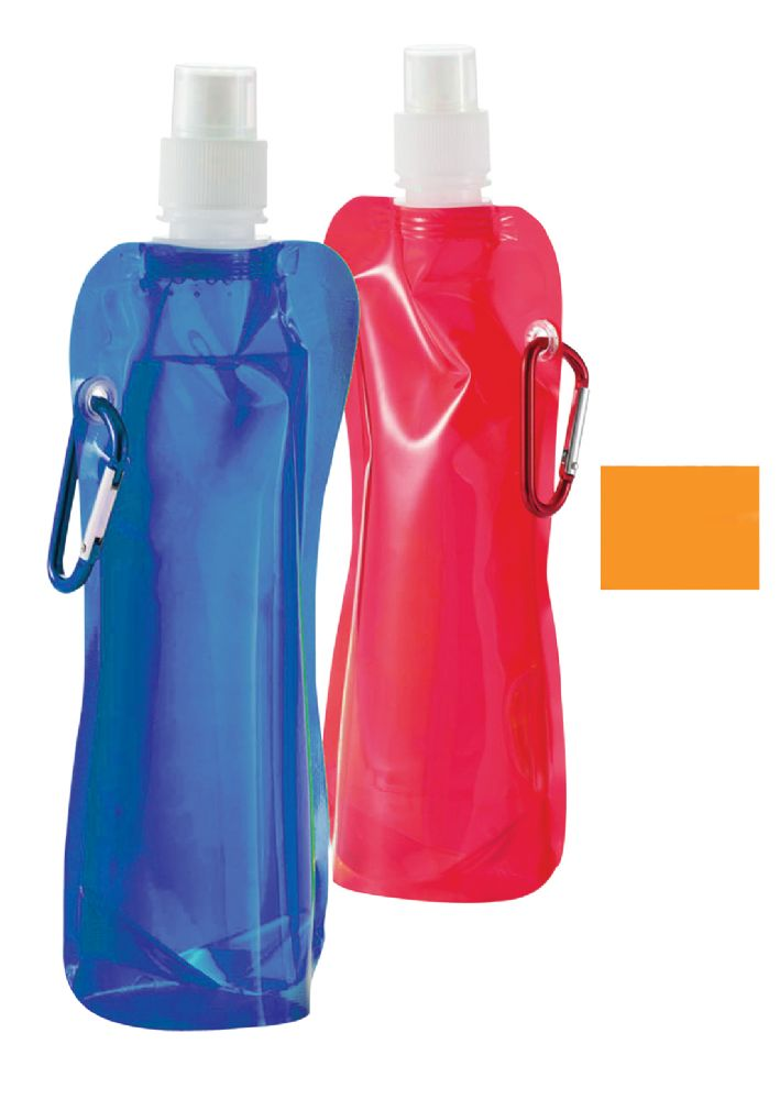 35b1cb5903 24 Units of COLLAPSIBLE WATER BOTTLE 16 OZ ASTD BOLD COLORS. BPA FREE .  REUSABLE FREEZABLEFOLDABLEWASHABLEATTACHABLEIDENTIFIABLE - Drinking Water  Bottle