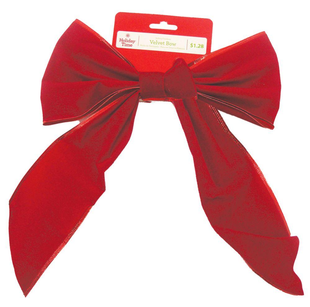 60 Units of CHRISTMAS RED VELVET BOW PREPRICED $ 1.28