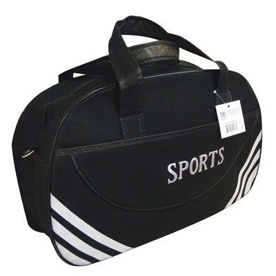 12 Units Of Sport Duffel Bag 21 X 13 5 7 Inch Black With White Stripe Duffle Bags