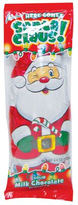 24 Units of PALMER CLASSIC MILK CHOCOLATE CHRISTMAS SANTA CLAUS 4.4 OUNCE MADE IN USA