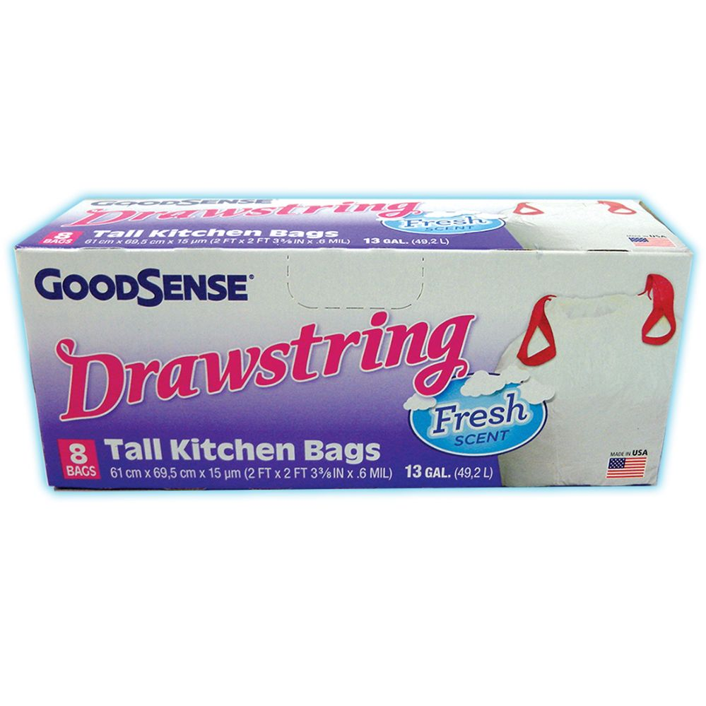24 Units Of Good Sense Tall Kitchen Bags 8 Count 13 Gallon
