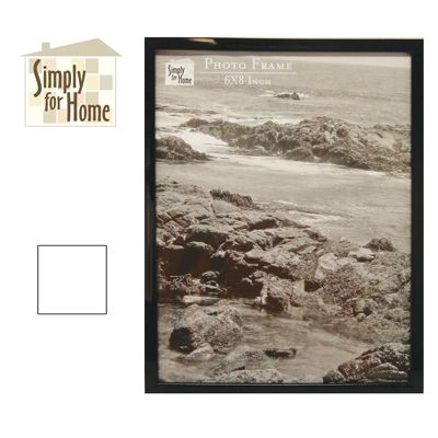 24 Units of PLASTIC PHOTO FRAME 6 X 8 INCH BLACK/WHITE - Picture Frames
