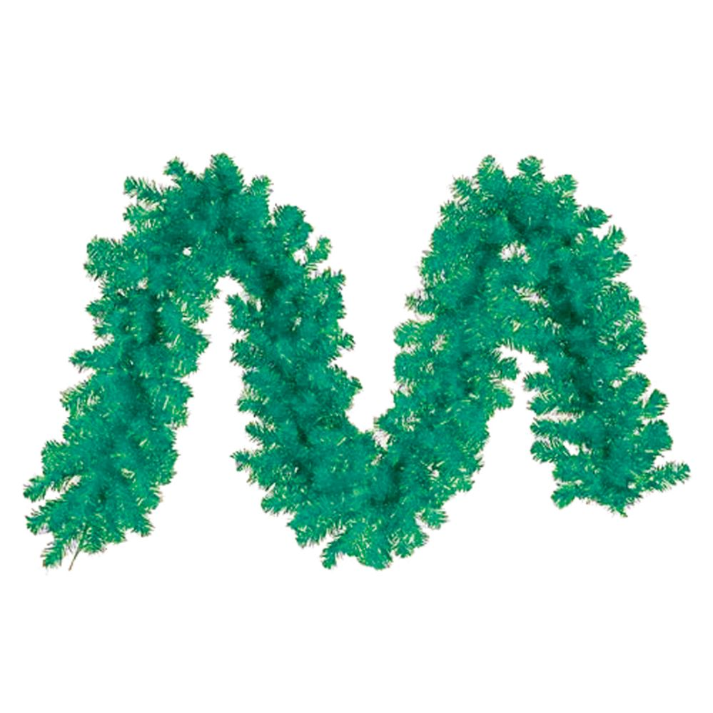 48 Units of CHRISTMAS TINSEL GARLAND 80 X 4 INCH GREEN