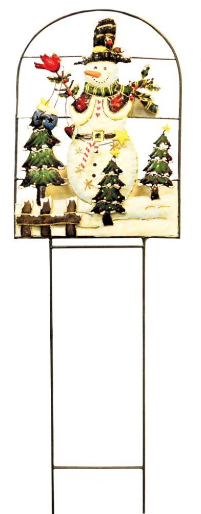 18 Units of CHRISTMAS HAND PAINTED LAWN DECORATION LARGE 41 INCH X 12.5 INCH WIDE